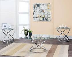 glass coffee table sets attractive metal and side tables gyro 3 piece set regarding 8