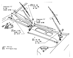 Diagram of windshield wiper washer system