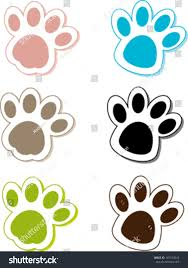 Cat Paw Design Creative Design Dog Cat Paw Fully Stock Vector Royalty Free