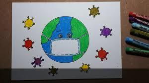 Vẽ Trái Đất Đeo Khẩu Trang Đơn Giản Nhất   Vẽ Tranh Phòng Chống Covid19  #Covid19, #thuvanart - YouTube