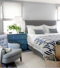 Blue And Grey Themed Bedroom