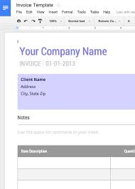 Basic Invoice Template Google Docs Online Invoices Invoicing