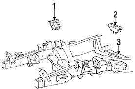 parts com® ford insulator asy engi partnumber 7l3z6038d 2007 ford f 150 lariat v8 5 4 liter flex engine trans mounting