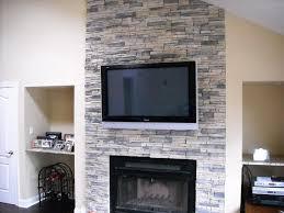 image of drystack stone fireplace