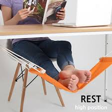 new portable foot rest hammock under desk office footrest mini stand hanging swing for comfortable your foot in hammocks from furniture on aliexpress com