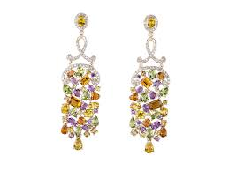 multi colored chandelier earrings
