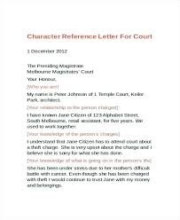 How Write Reference Letter Write A Character Reference For Court 9