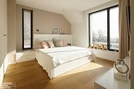 Light Wood And White Bedroom Poland Modern Home Interior Black White Light Wood Color