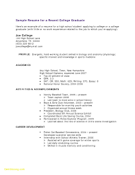 Resume Format For No Work Experience New 37 Wonderful High School