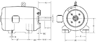 electric motor nema frame table chart