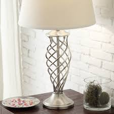 Cornelia 3-way Satin Nickel Contoured Cage Base 1-light Accent Table Lamp  by iNSPIRE Q Bold - Free Shipping Today - Overstock.com - 15769672