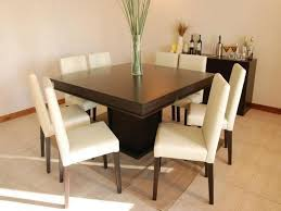 square dining room sets for 8