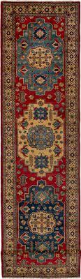 gazni red wool rug hand knotted afghan rug 2 9 x