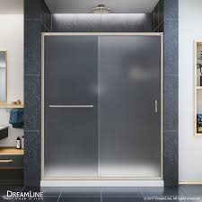 frosted sliding shower doors. Infinity-Z 74 3/4\ Frosted Sliding Shower Doors O
