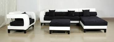 black modern couches. Black Sofas Of Modern Look In A Living Room : Avella White Leather 4 Couches F