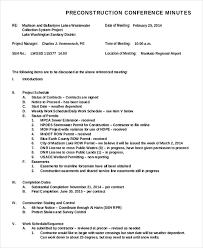 Meeting Minutes Template Amazing Construction Minutes Template 44 Free Word PDF Documents Download