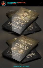 barbershop business cards rustic barbershop business card template card templates barber