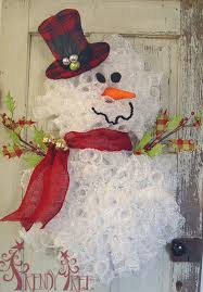 homemade snowman wreath these are the best diy decorations craft ideas