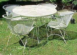 vintage rod iron patio set google search antique rod iron patio
