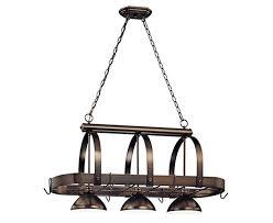 Volume Lighting V3023 33 3 Light Brushed Nickel Pot Rack   Island Light  Fixtures   Amazon.com