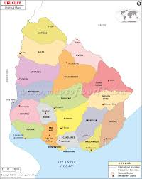 political map of uruguay  uruguay departments map