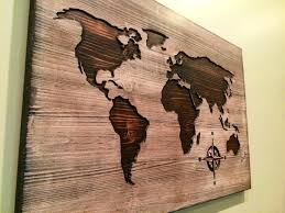 wooden wall decorations carved world map wood art home decor zoom decorating ideas unique wooden