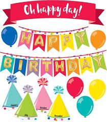 Happy Birthday Chart Decoration Just Teach Happy Birthday Mini Bulletin Board Set