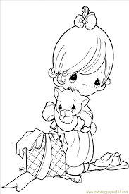 Precious Moments Christmas Coloring Pages Gianfredanet Coloring