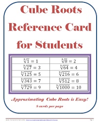 8 Ee A 2 Square Roots Cube Roots Lessons Tes Teach