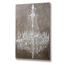 textured cement effect chandelier wall art undefined