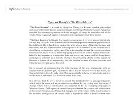 ngugi wa thiong o s the river between university linguistics  document image preview