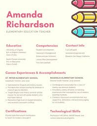 Cream Pencils Creative Resume