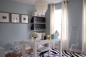 The wall color Home office with blue gray paint color Benjamin