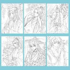 Bộ tranh tô Màu Nước Anime khổ A4, A5 - Chất giấy dày đẹp, định lượng  180gsm