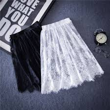 Women <b>Spring Summer Lace</b> Tulle <b>Hollow</b> Out Short Skirt Dress ...