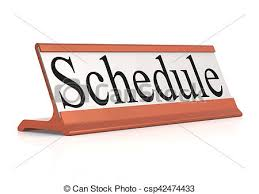 Schedule Word Schedule Word On Table Tag Isolated