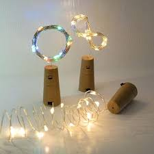 cork shaped bottle led night light glass wine stopper colorful string lights stoppers uk