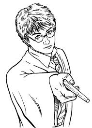 Harry Potter Coloring Pages Harry Potter Wand Coloring Page Coloring