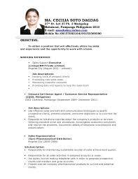 sample objectives in resume for call center agent best solutions of sample  resume for call center .