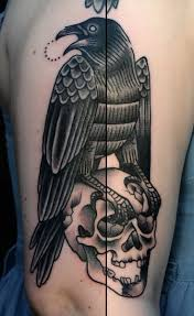 Crow On A Skull Tattoo By Philip Yarnell Tattoomagz Tattoo