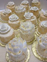 Mini Cakes For A Wedding By The White Flower Cake Shoppe Pretty