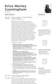 Senior Consultant, Corporate Benefits Communications Resume samples