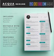 Illustrator Resume Templates Classy Best Free Resume Templates In PSD And AI In 28 Colorlib