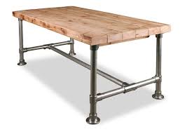 table made with s from scaffolding and kee clamps