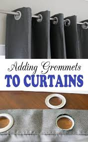 how to add grommets to curtain panels super easy complete tutorial that you can