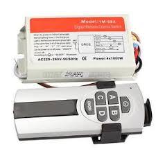 Wireless 4 Channel Light ON OFF 220V 240V Remote Control Switch