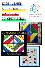 Co-operative Shapes and Colors Painting - Mosswood