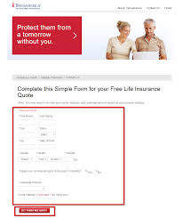 transamerica life insurance quote step 3