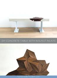 how to make a concrete table top coffee tables how to make a round concrete table