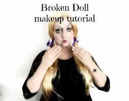 picture of broken doll makeup tutorial
